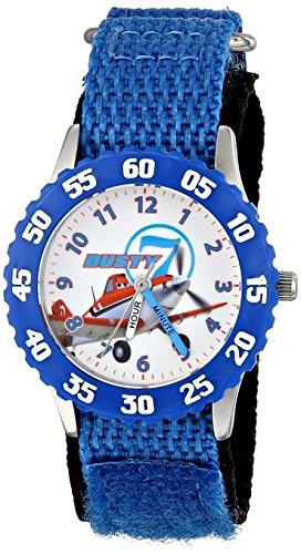 Disney Kids Planes Dusty Crophopper Stainless Steel with Blue Bezel watch W001229 Blue Stretch Nylon Strap Analog Display Analog Quartz Blue Watch