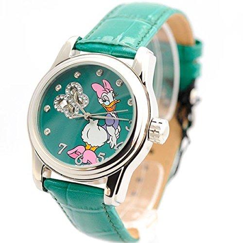 Disney Uhr Damenarmbanduhr Automatikuhr Daisy Duck Leder Strass ABC Disney 21