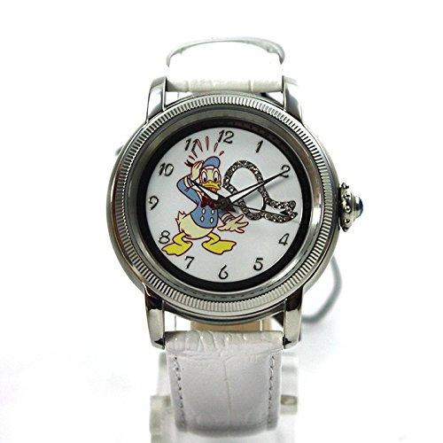 Disney Donald Duck Damenuhr Automatikuhr Uhr Lederband Strass Comicuhr