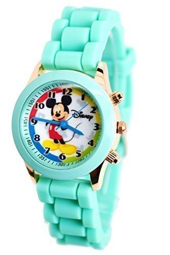Disney Mickey Maus sehen W Fashion Knoepfe in kann Fall Kleine Analog Display Verstellbares Band 22 9 cm L