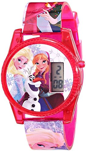 Disney Kids FNFKD071 Frozen Musical and Flashing Lights Digital Watch Let it Go