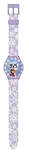 Disney Maedchen-Armbanduhr Frozen LCD-Uhr mit Strass Digital Quarz Plastik 755411