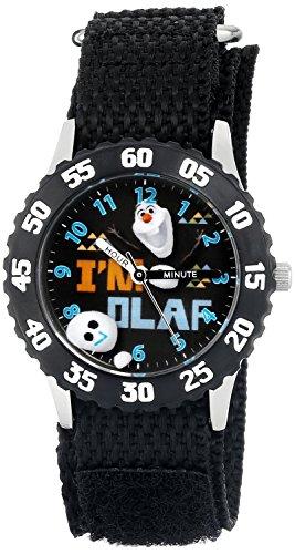 Disney Kids Frozen Olaf Stainless Steel Watch W001785 Black Strap