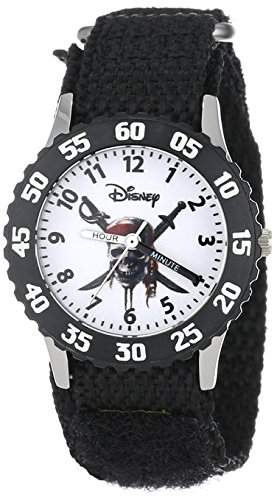 Disney Kids W000153 Pirates of the Caribbean Stainless Steel Time Teacher Watch