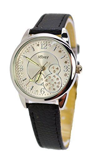 Disney uhr mit Kristalle Mickey Mouse A5 2513 ANALOG grosses Display