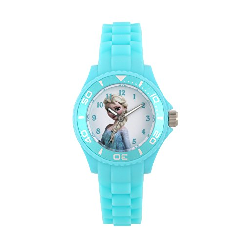 Disney Maedchen Armbanduhr La Reine des Neiges Analog Quarz Tuerkis W002496