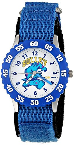 Disney Kids Monsters University Sully Stainless Steel with Blue Bezel Watch W001230 Blue Stretch Nylon Strap Analog Display Analog Quartz Blue Watch
