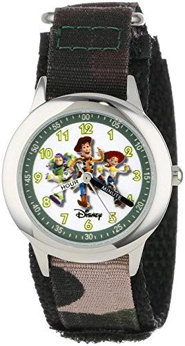 Disney Kids W000065 Toy Story 3 Buzz Lightyear Woody Jessie Stainless Steel Time Teacher Watch