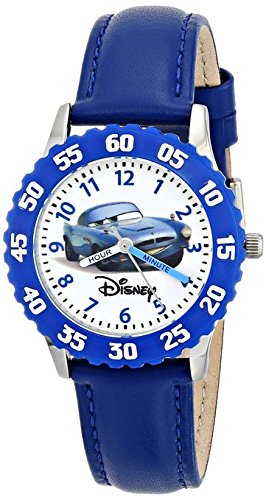 Disney Kids W000086 Cars Stainless Steel Time Teacher Watch