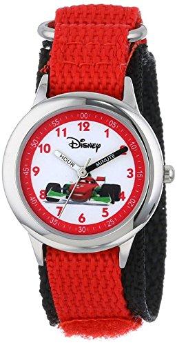 Disney Kids W000095 Cars Stainless Steel Time Teacher Watch