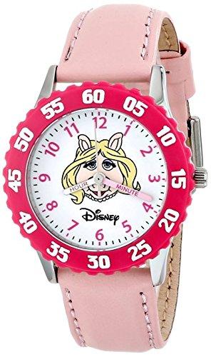 Disney Kids W000161 Muppets Miss Piggy Stainless Steel Time Teacher Watch