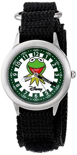 Disney Kids W000162 Muppets Kermit Stainless Steel Time Teacher Watch