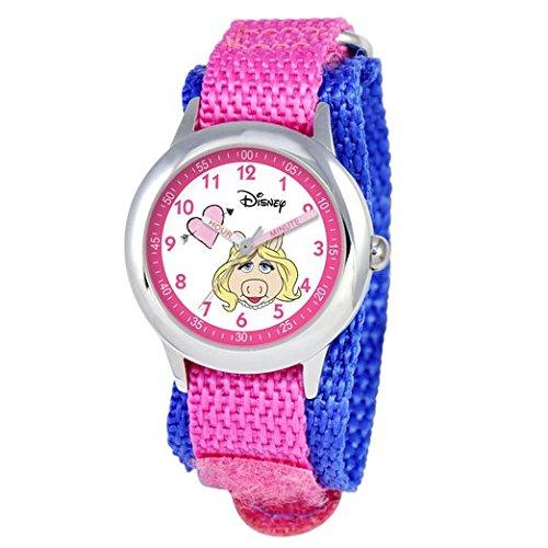 Disney Kids W000164 Muppets Miss Piggy Stainless Steel Time Teacher Watch
