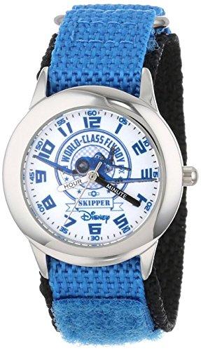 Disney Kids W000883 Planes Fire Rescue Stainless Steel Time Teacher Blue Nylon Strap Watch