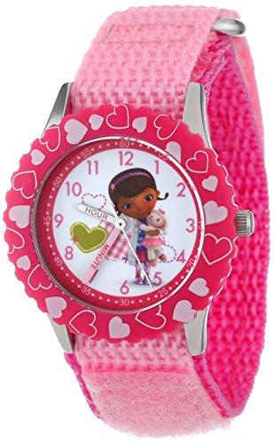 Disney Kids W000910 Doc McStuffins Stainless Steel Time Teacher Watch