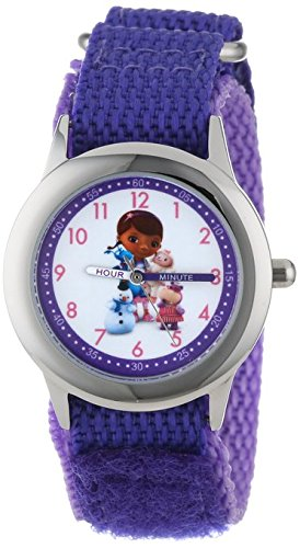 Disney Kids W000912 Doc McStuffins Stainless Steel Time Teacher Watch
