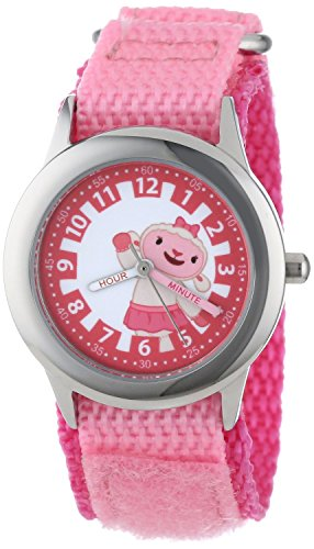 Disney Kids W000913 Doc McStuffins Time Teacher Stainless Steel Watch with Pink Nylon Band