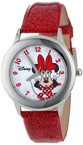 Disney Kids W000914 Tween Minnie Glitz Stainless Steel Watch with Red Band