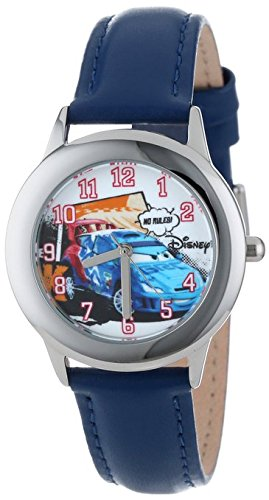 Disney Kids W001009 Tween Cars Stainless Steel Watch With Blue Leather Band