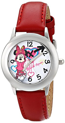 Disney Kids W001063 Minnie Mouse Stainless Steel Purple Watch