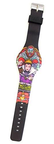 Disney Snow White Evil Queen LED Gummi Armbanduhr
