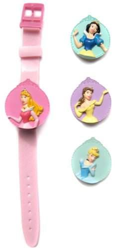 Disney Maedchen-Armbanduhr Princess Deckel austauschbar Lcd und Spiegel