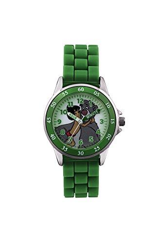 Das Dschungelbuch Kinder Digitale Armbanduhr mit Zifferblatt Analog Anzeige und Gruen Rubber Strap jbk3007