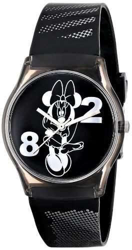 Disney-25807-Maedchen Armbanduhr Analog-Armband Kunststoff schwarz