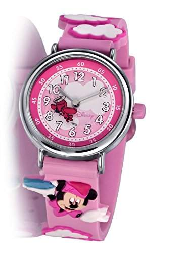 Disney MU1037 Micky Maus Mini Mouse Kinder Uhr pink