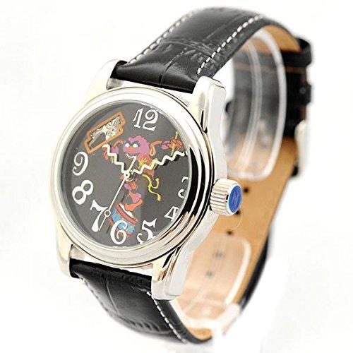 The Muppets Uhr black Automatik Uhr Damenarmbanduhr Leder Kruemelmonster Motiv D29 S