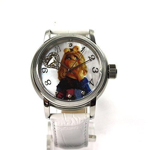 The Muppets Uhr Automatikuhr Miss Piggy Lederband Strass limitiert