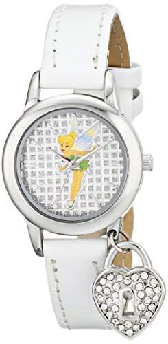 Disney Damen TK1009 Tinkerbell White Patent Strap with Charm Armbanduhr