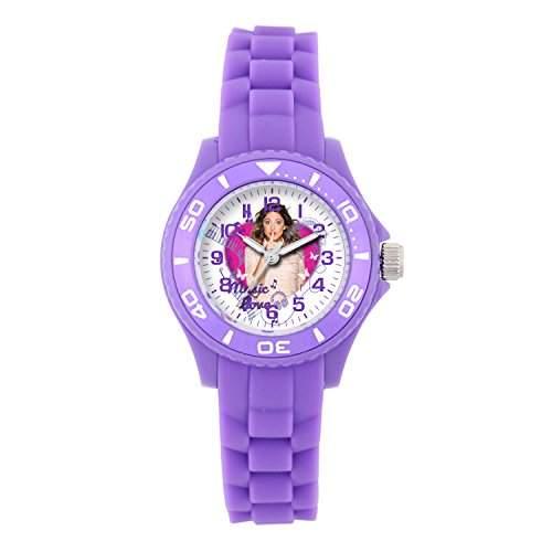 """Disney W001567 Mädchen Armbanduhr, Motiv """"Violetta"""", analog, Silikonband, Violett"""