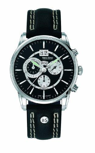 Bruno Soehnle Herren Armbanduhr Atrium Chronograph Quarz Leder 17 13054 741