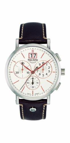 Bruno Soehnle Herren Armbanduhr Chronograph Quarz Leder 17 13112 245