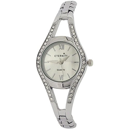 Eternity Damenuhr Swarovski Kristall Luenette silberfarbenes Armband ET80C