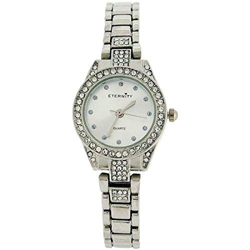 Eternity Swarovski Kristall Luenette silberfarbenes Armband ET78C