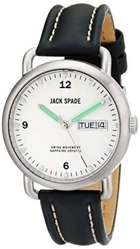 Jack Spaten Herren Fleecejacke wuru0121 Stillwell Analog Display Swiss Quartz Black Watch