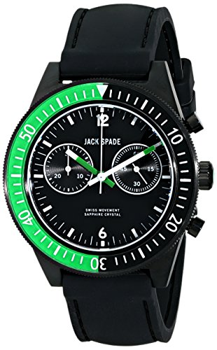 Jack Spaten Herren wuru0111 Wilkins Analog Display Swiss Quartz Black Watch