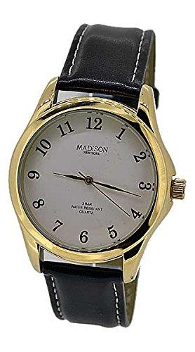 Madison Uhr Armbanduhr Herren LEDER braun 53959 UVP 19 90 NEU 7928