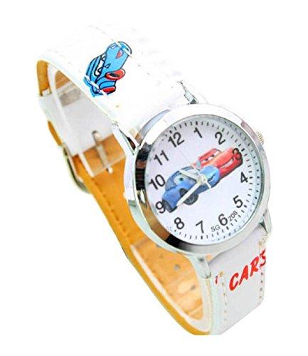 NEW Lovely Disney Cars Watch children kids Kinder cartoon Watches Uhren leather Band WP KTW151667W