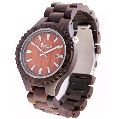 REDEAR Unisex Holz Uhren Armbanduhren Abgestimmte Holz Uhr Band Gehaeuse und Hohe Qualitaet Bewegung