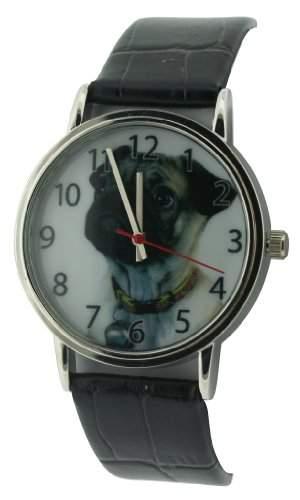 Citron WomenQuarz-Uhr mit weissem Zifferblatt Analog-Anzeige und Schwarz PU Strap CB1000A