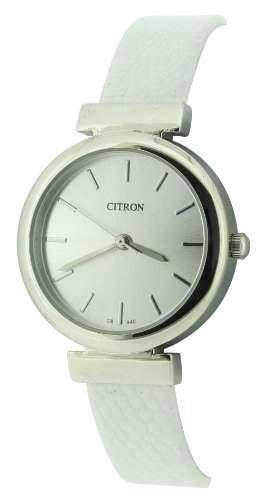 Citron Damen-Armbanduhr Analog Plastik Weiss CB940A