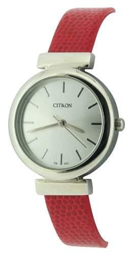 Citron Damen-Armbanduhr Analog plastik rot CB940D