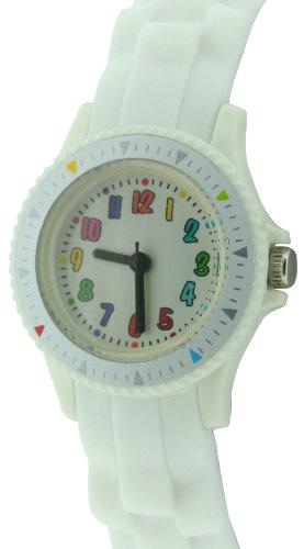 CITRON Kinder Armbanduhr Analog silikon weiss KID109