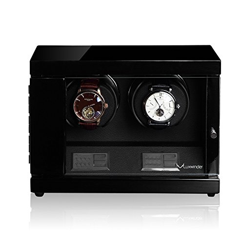 Luxwinder Uhrenbeweger Flint LV2 fuer 2 Uhren by Modalo 6202112 schwarz