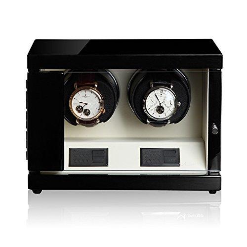 Luxwinder Uhrenbeweger Flint LV2 fuer 2 Uhren by Modalo 6202122 schwarz beige