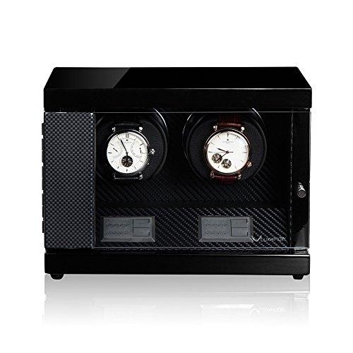Luxwinder Uhrenbeweger Flint LV2 fuer 2 Uhren by Modalo 620882 carbon