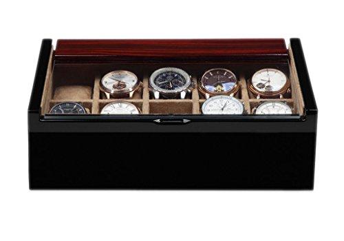 Uhrenkasten Luxwinder Aufbewahrungsbox fuer 10 Uhren aus Holz massiv BOX